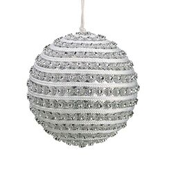 Glitzy and Glamorous Spiral Rhinestone Christmas Ball Ornament by Tori Home