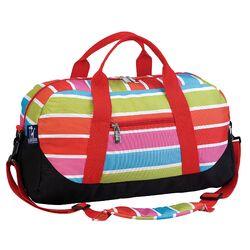 Ashley Bright Stripes Overnighter Duffel Bag