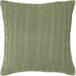 Cable Knit Wooden Button Closure Throw Pillow