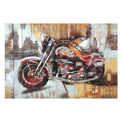 Motorcycle City Painting Print