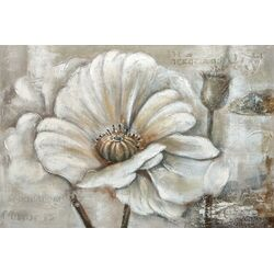 White Perennial I Painting Print