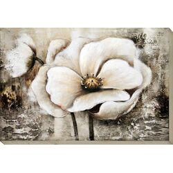 White Perennial II Painting Print on canvas