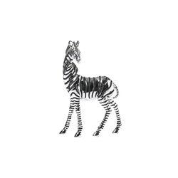 Standing Zebra Sculpture (Set of 2)