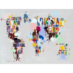 Where in The World Textual Art on Canvas