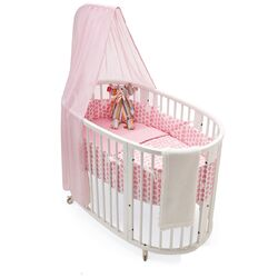 Sleepi Crib Bedding Collection in Pink Dots-Sleepi Canopy Rod