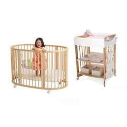 Sleepi Crib Set in Natural with Mattress