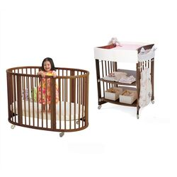 Sleepi Crib Set in Walnut with Mattress