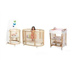 Sleepi Bassinet and Crib Nursery Set in Natural with Mattress