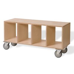 Birch Plywood Storage Bench