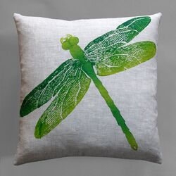 Entomology Dragon Fly Pillow