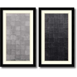 'Grey Scales' by Renee W. Stramel 2 Piece Framed Art Print Set