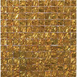 Vista 12'' x 12'' Glass Mosaic Tile in Gold