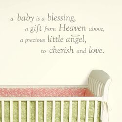 Baby is a Blessing Wishes Wall Decal