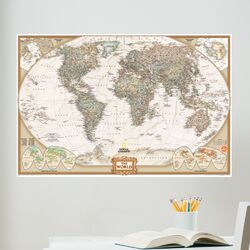 Art Kit National Geographic World Map Wall Mural