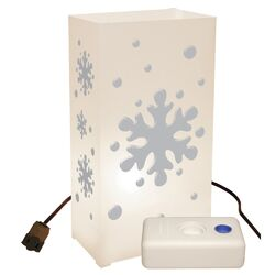 Snowflake 10 Count Electric Luminaria Kit with Lumabases