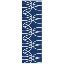 Ribbon Blue Area Rug