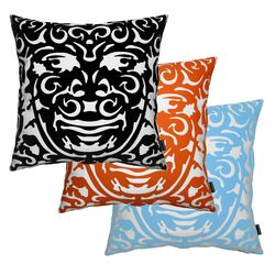 Triton 1 Throw Pillow in Black