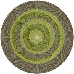 Eccentric Green Area Rug