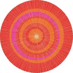 Eccentric Red Area Rug