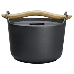 Sarpaneva Steel 3-qt. Cast Iron Round Casserole