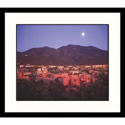 Cityscapes Moonrise Over Sante Fe Framed Photographic Print