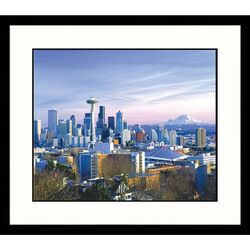 Cityscapes 'Seattle Skyline'by George White Jr. Framed Photographic Print