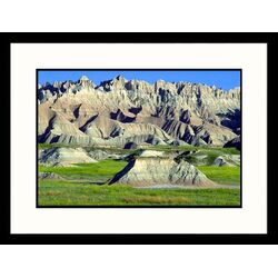 Landscapes 'Eroding Terrain, Badlands - New Mexico, South Dakota' by Craig J Brown Framed ...