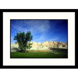 Landscapes 'Badlands Wall, Badlands - New Mexico, South Dakota' by Jack Jr Hoehn Framed ...