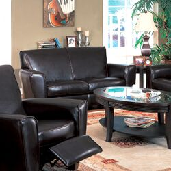Santiago Bycast Leather Loveseat
