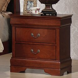 Louis Phillipe 2 Drawer Nightstand