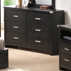 Vinyl 6 Drawer Double Dresser