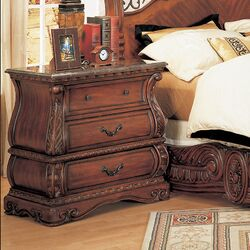 Frontega 3 Drawer Nightstand