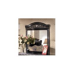 Park Mirror in Deep Glossy Black