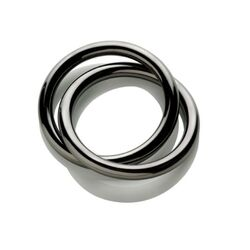 Oui Napkin Ring with PVD Coating in Grey by LPWK, Andrea Incontri