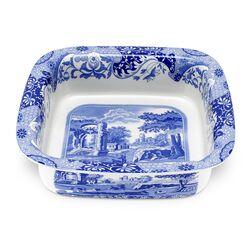 Blue Italian Square Dish