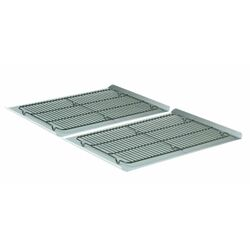 4 Piece Nonstick Large Cookie Sheet and Cooling Rack Set