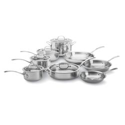 Tri-Ply Stainless Steel 13-Piece Set