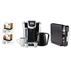 2.0 K450 Brewing System with Countertop Storage Drawer, Starbucks Breakfast Blend K-Cups and ...