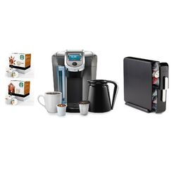2.0 K550 Brewing System with Countertop Storage Drawer, Starbucks Breakfast Blend K-Cups and ...