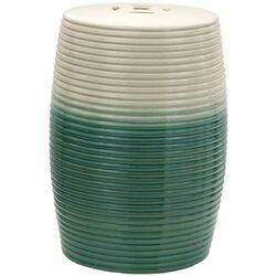 Ribbed Porcelain Garden Stool