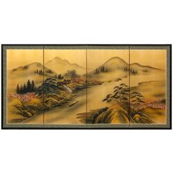 Majestic River on Gold Leaf Wall Art