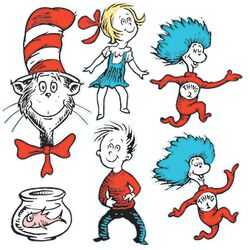 Large Dr Seuss Characters 2-sided (Set of 3)