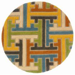 Vibrance Geometric Puzzle Rug