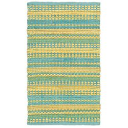 Dhurry Blue/Yellow Area Rug
