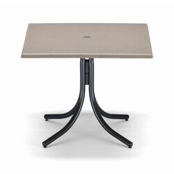36'' Square Werzalit Counter Height Table with Hole