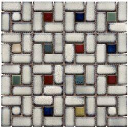 Essentia Random Sized Porcelain Mosaic Tile in Cascade