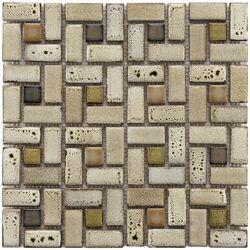 Essentia Random Sized Porcelain Mosaic Tile in Sierra