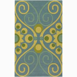 Emma At Home Designer Swirl Floral Rug