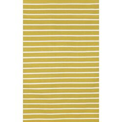 Sorrento Pinstripe Yellow/Ivory Indoor/Outdoor Area Rug