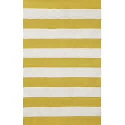Sorrento Rugby Stripe Yellow/Ivory Indoor/Outdoor Area Rug